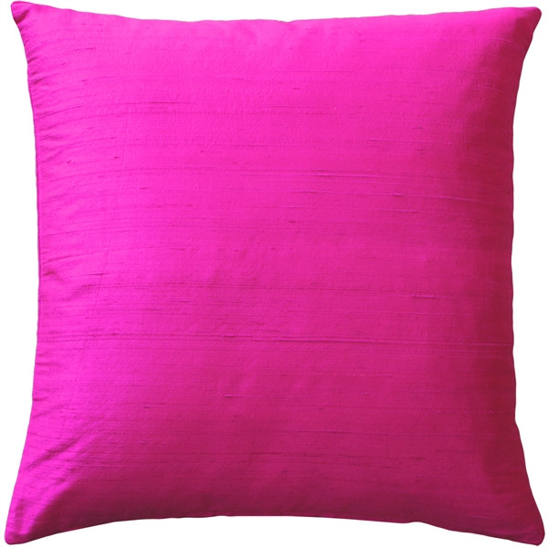 Sankara Fuchsia Pink Silk Throw Pillow 20x20