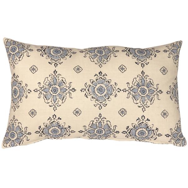 Medallion Handprint Lake 12X20 Throw Pillow