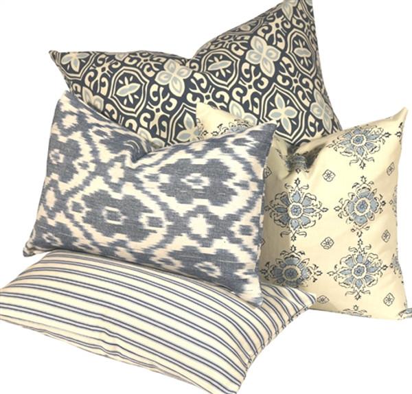 Alhambra Handprint Indigo Throw Pillow