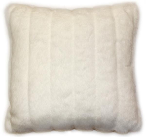 Minky White Stripes Throw Pillow