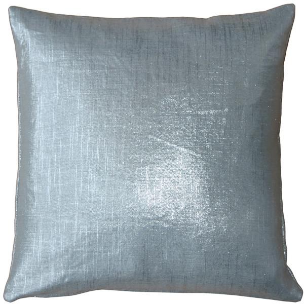 Tuscany Linen Silver Metallic 20x20 Throw Pillow