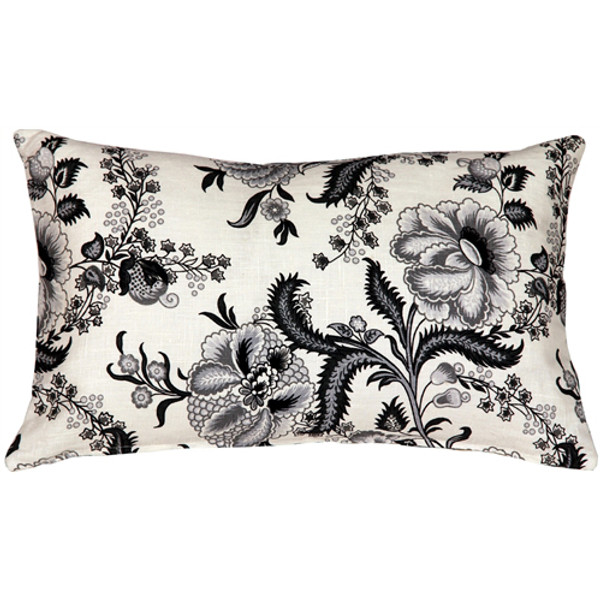 Tuscany Linen Floral Print 12x19 Throw Pillow