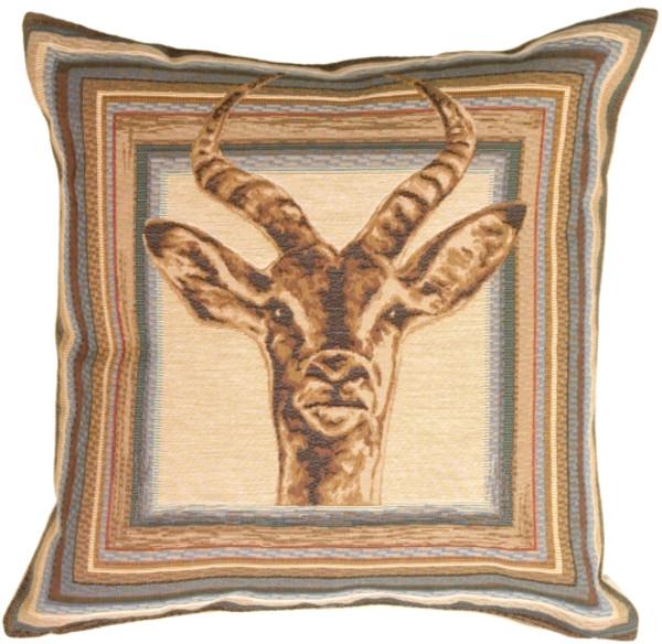 Blue Antelope Decorative Pillow