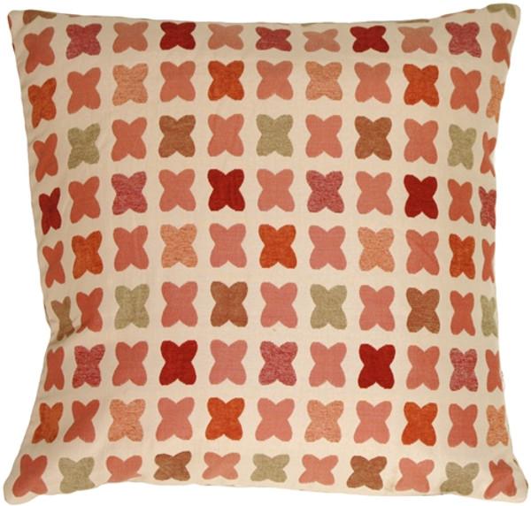 Cherry Cross on Sand Square Decorative Pillow