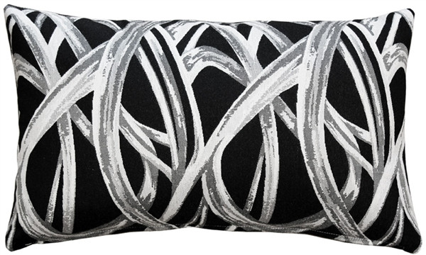 Flair 12x20 Black Throw Pillow