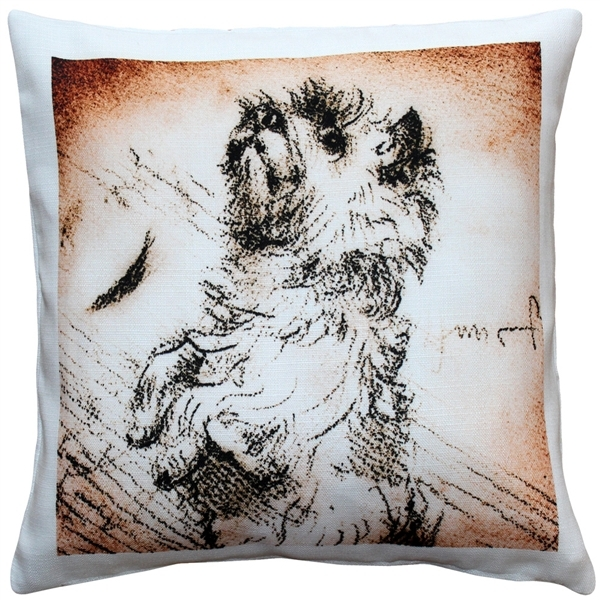 Cairn Terrier Sitting Up Dog Pillow