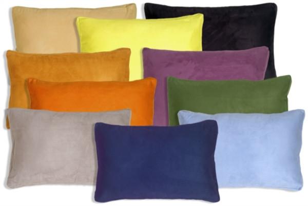 Box Edge Rectangular Suede Pillows