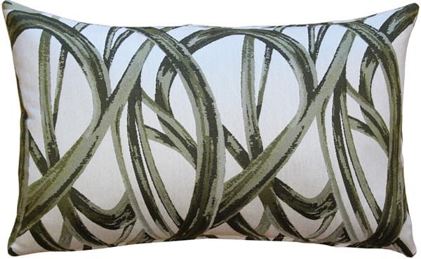 Flair 12x20 Green Throw Pillow