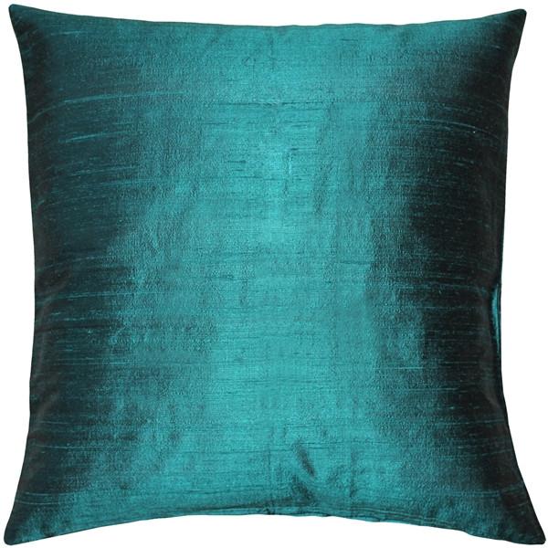Sankara Juniper Green Silk Throw Pillow 16x16