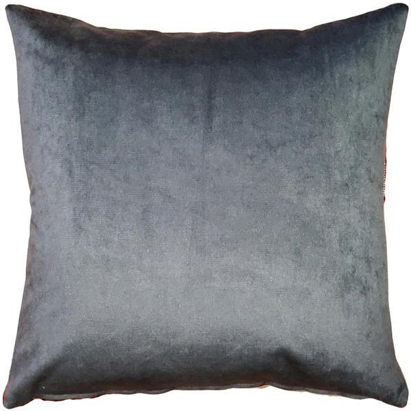 Crown Velvet Charcoal Gray Throw Pillow 17x17