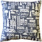 New York City Cotton Print Throw Pillow 17x17