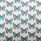 Costa Rica Robin's Egg Butterfly Tiny Scale Print Throw Pillow12x20