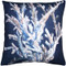 Ocean Reef Coral on Navy Throw Pillow 20x20