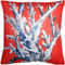 Ocean Reef Coral on Red Throw Pillow 20x20