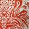 Rustic Floral Orange 20x20 Throw Pillow Fabric