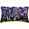 Purple Irises 12x20 Throw Pillow