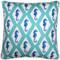 Capri Turquoise Argyle Seahorse Throw Pillow 20x20
