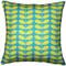 Mid-Centruy Modern Turquoise Throw Pillow 20x20
