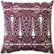 Partridge Stamp Marsala Throw Pillow 20x20