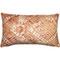 Tangga Orange Throw Pillow 12X20