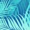 Karalina Turquoise Palm Throw Pillow 20x20