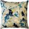 Linen Leaf Indigo Throw Pillow 20x20