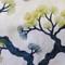 Bonsai Pine Teal Green Throw Pillow 19x19
