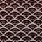 Seigaiha Scallop Textured Velvet Burgundy Throw Pillow 19x19