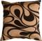 "Dramatic Swirls Gold 19"" Square Decorative Pillow"