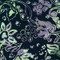 Night Shade Floral Throw Pillow 13x22