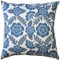 Avens Blue Floral Throw Pillow 17x17