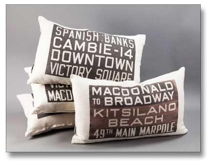 MOV Bus Scroll Pillows