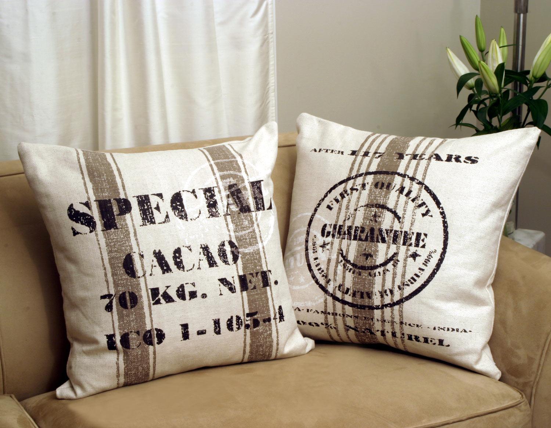 Cacao Bean Brown Throw Pillow
