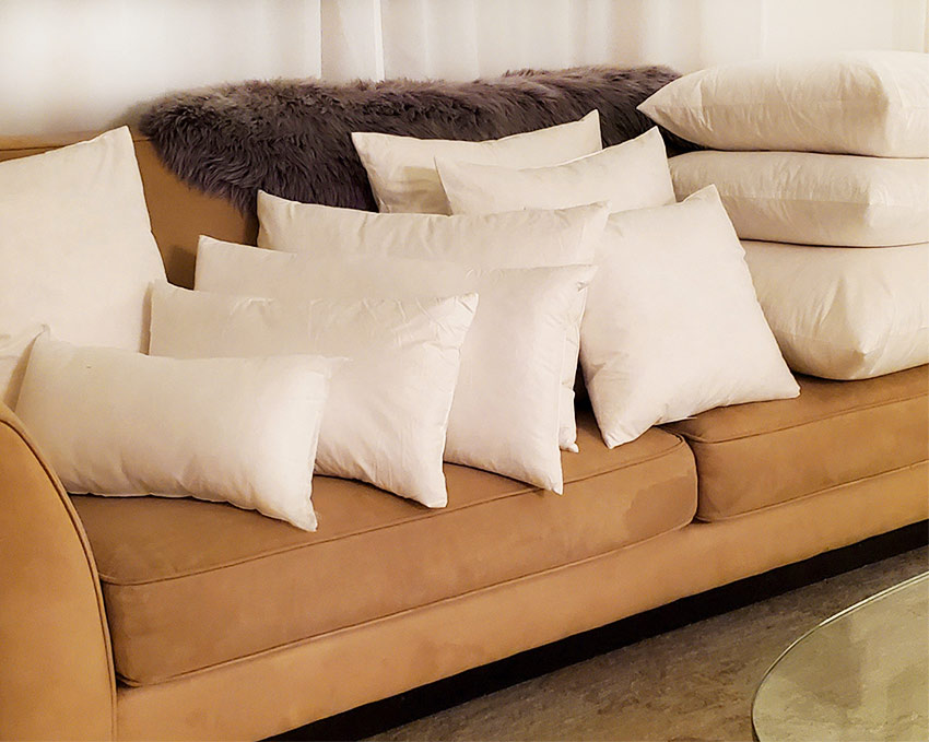 Feather-Down and Polyfill Pillow Inserts from Pillow Decor