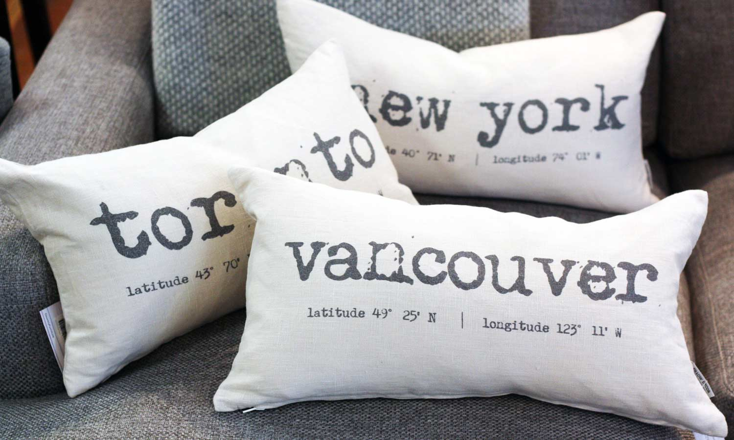 City Inspired Coordinate Pillows