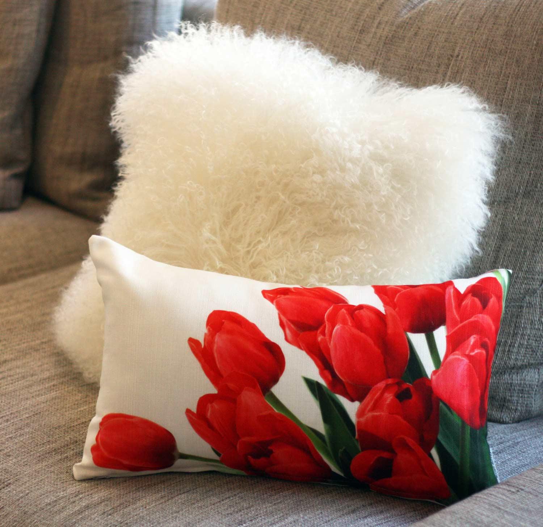 Mongolian Sheepskin Pillow from PIllow Decor