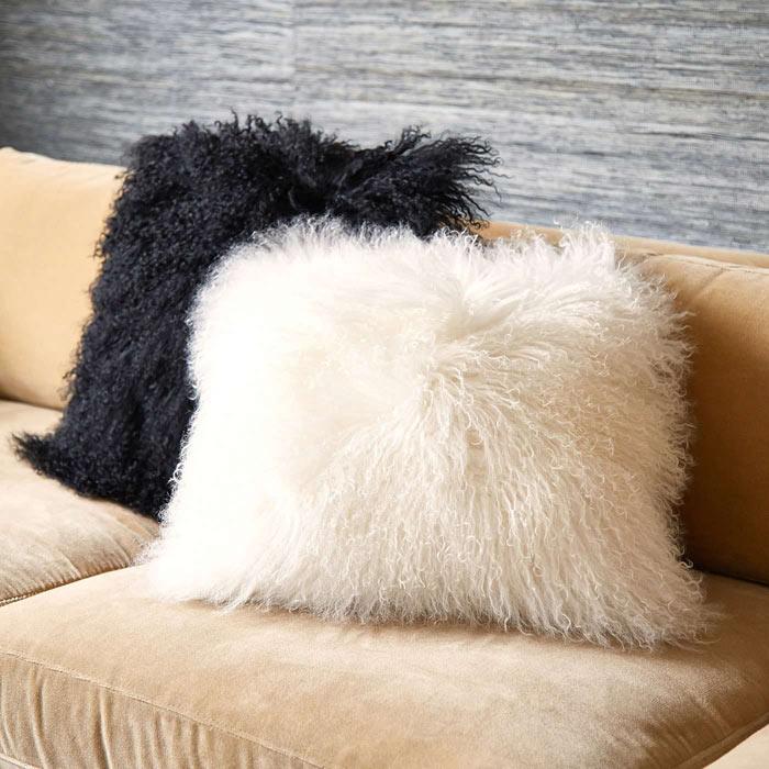 Mongolian Sheepskin Pillows from Pillow Decor