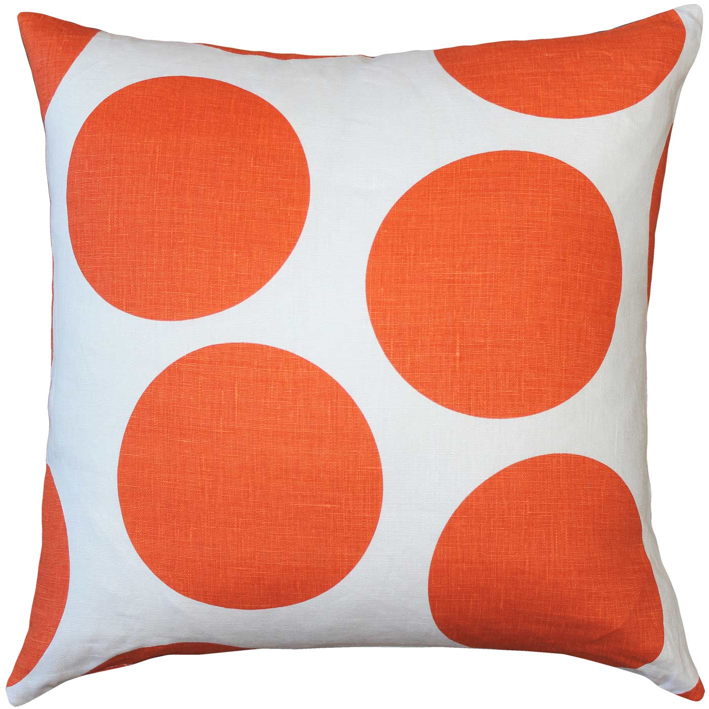 Tuscany Linen Orange Circles Pillow