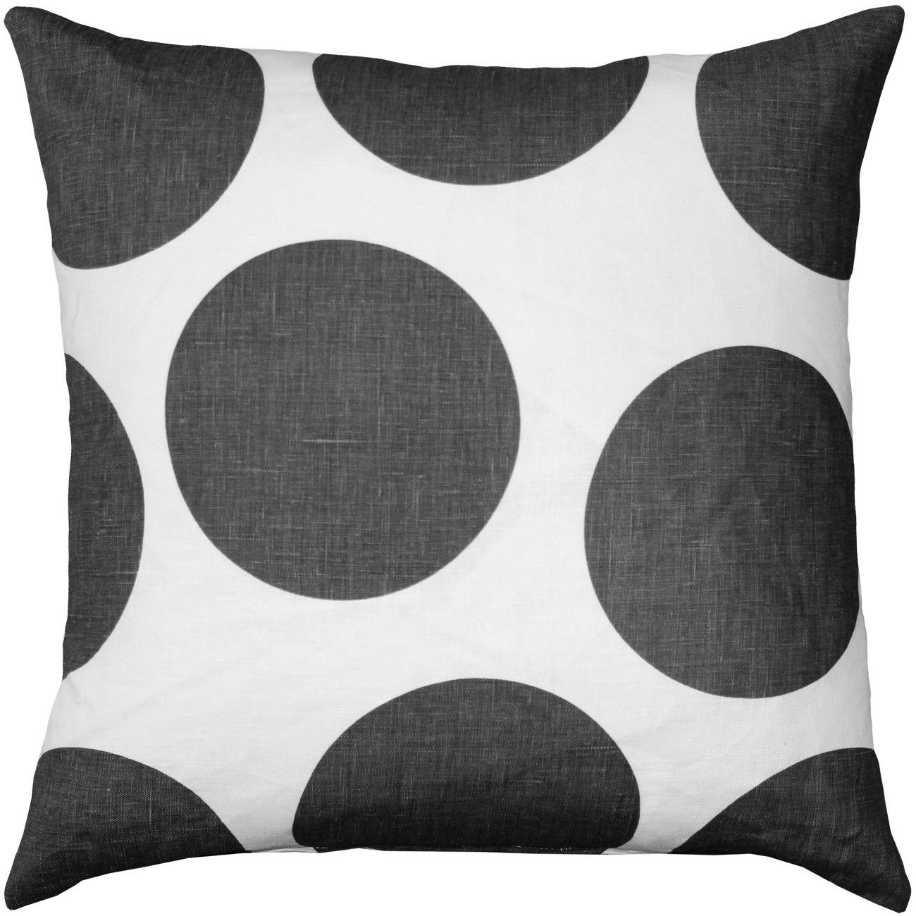 Tuscany Linen Gray Circles Pillow