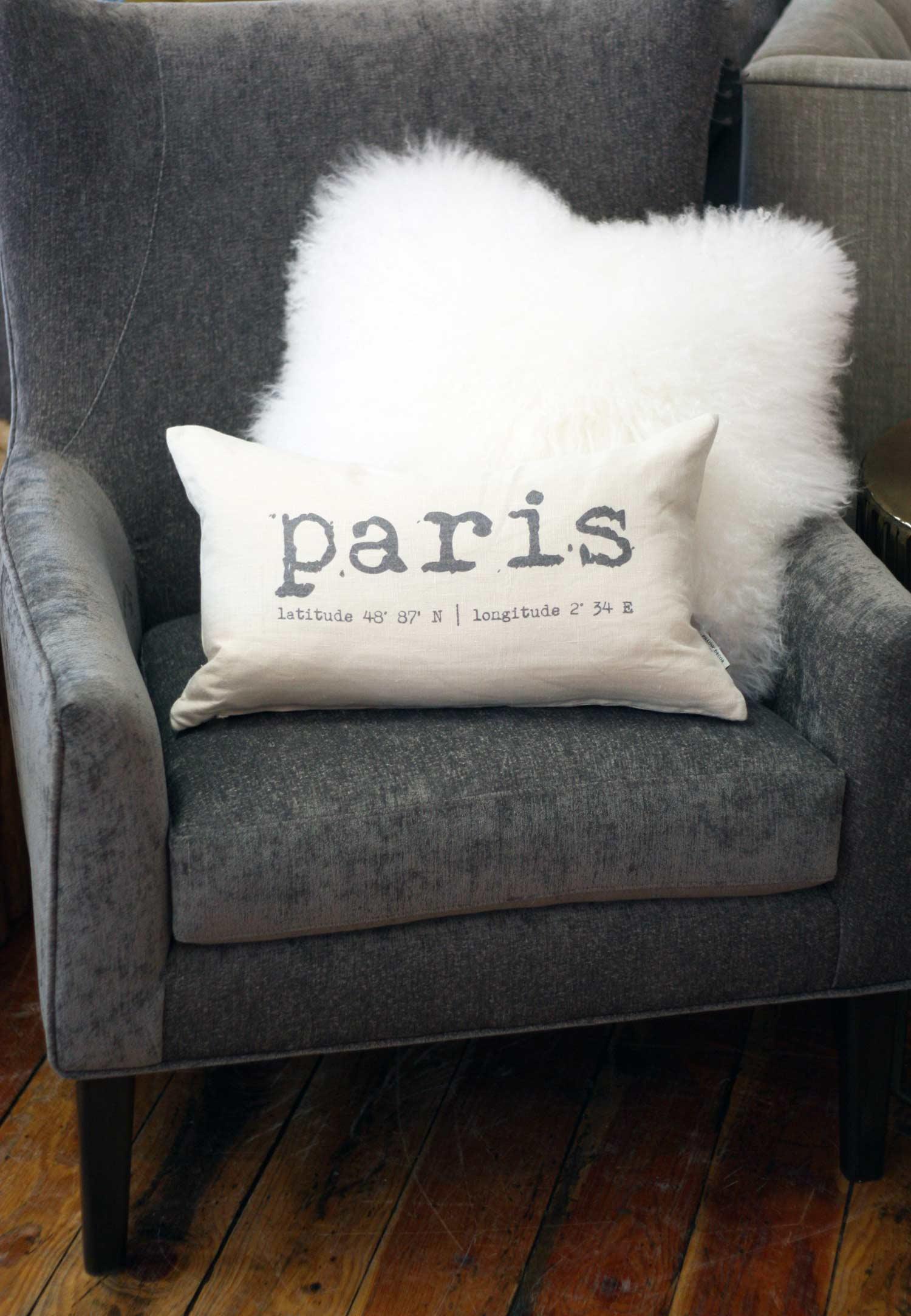 Paris on chair