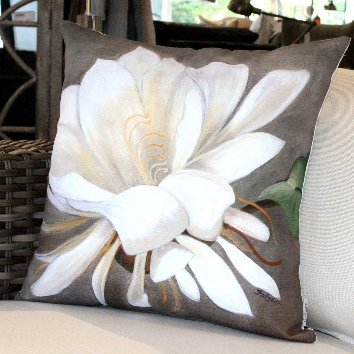 Cactus Flower Pillow by Sandra Forzani