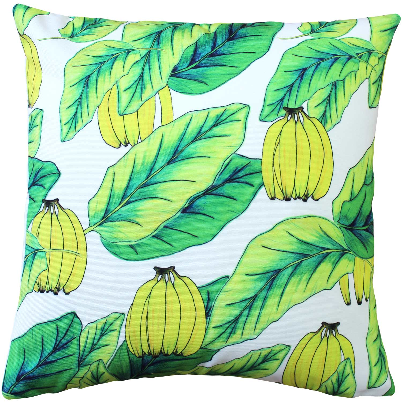 Karalina Banana Jungle Throw Pillow 20x20