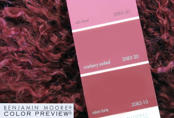 Benjamin Moore Color Match for Mongolian Sheepskin Wine Throw Pillow