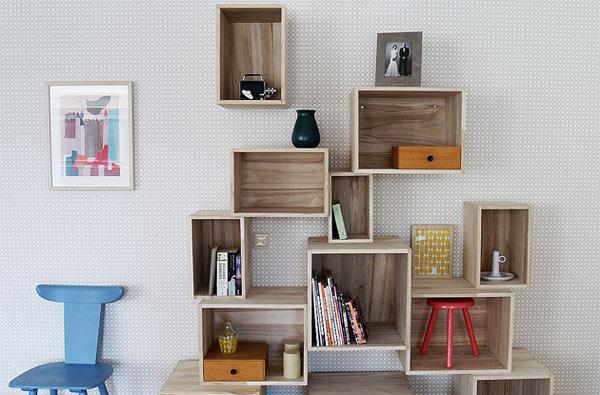 wood box shelves