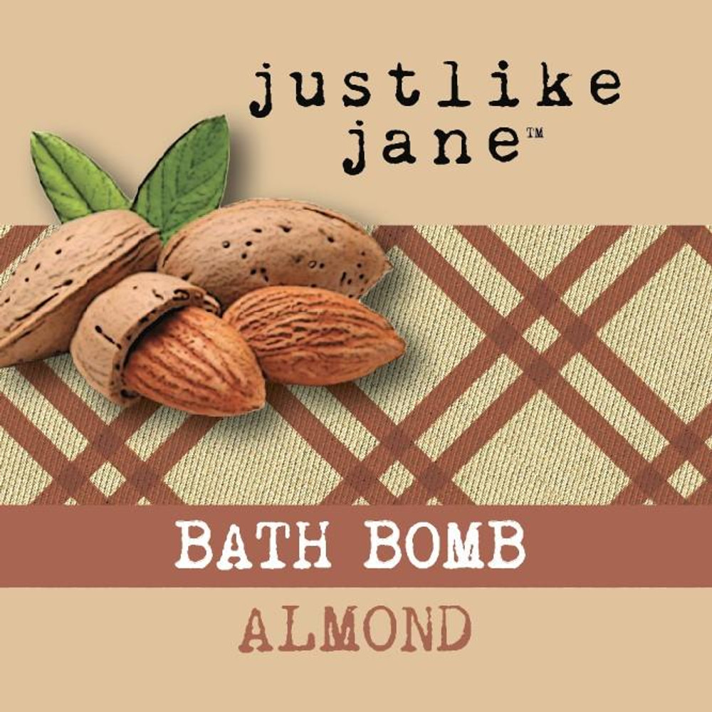 Fizzy Bath Bomb - Pure Almond 4.5 oz -