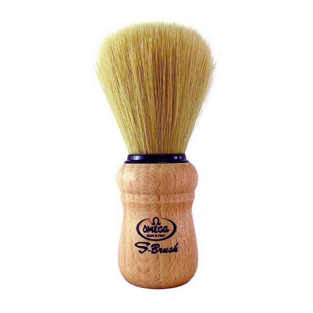 Shaving Brush - Omega Synthetic with Beech Wood Handle - 8001673980110