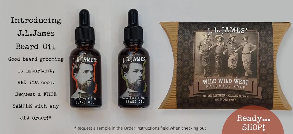 New! J.L.James' Beard Oil