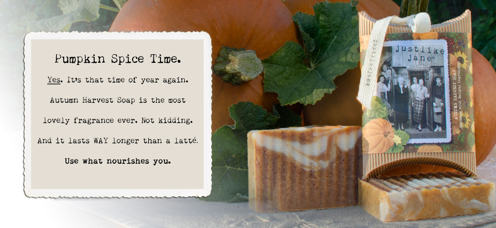 autumn harvest soap is just like a latte that lasts for 2 months