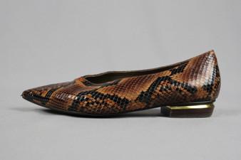 Snake skin flat shoes - UK4