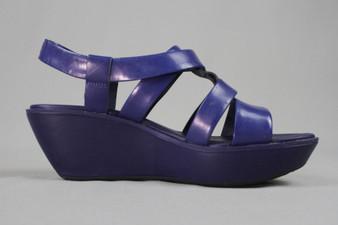 Blue wedged sandals - UK7